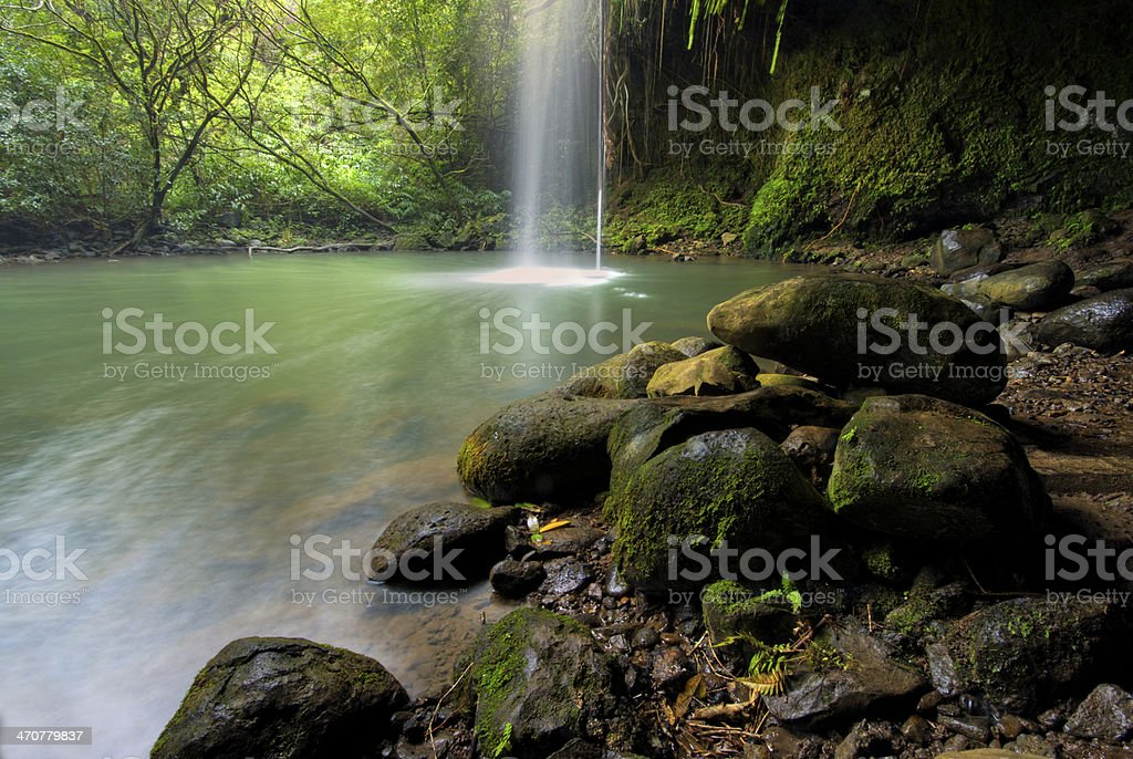 Twin Falls, off the road to Hana, Maui, Hawaii stock photo
