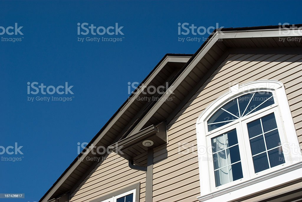 Twin House Peaks royalty-free stock photo