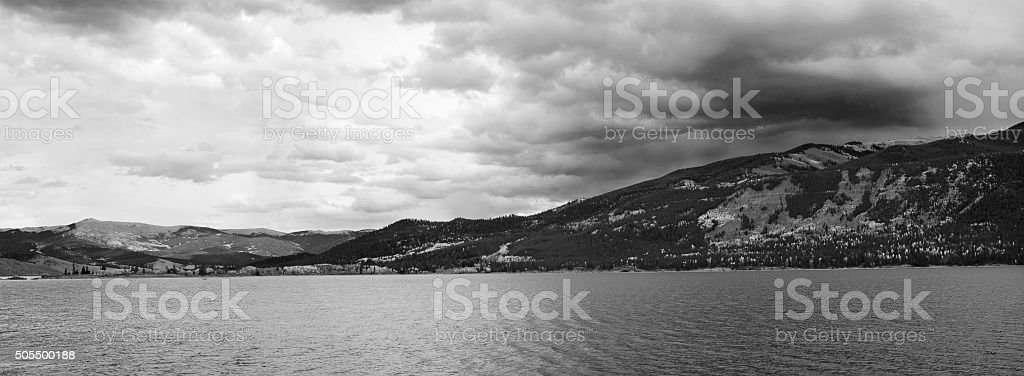 Twin Lakes in the Colorado Rocky Mountains stock photo