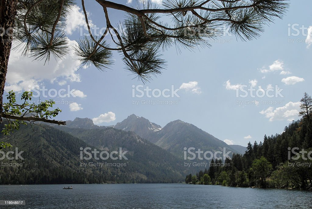 Twin Lakes in the Summer royalty-free stock photo