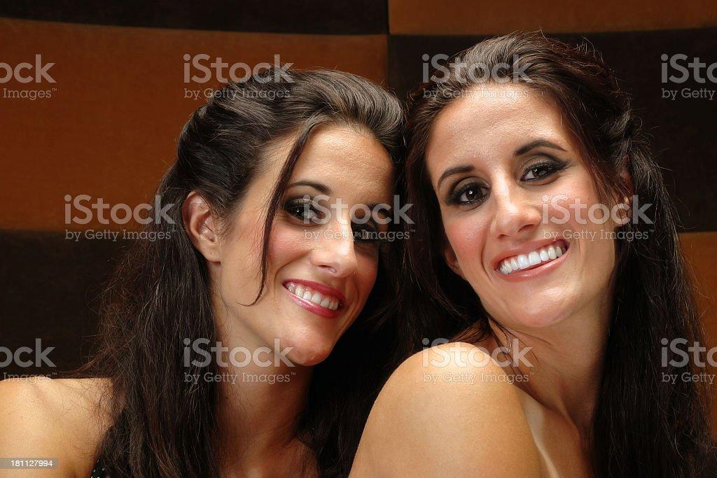 Twin Laugh stock photo