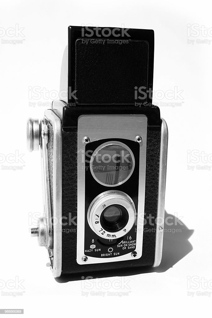 Twin Lens Reflex Camera from the 1950's stock photo