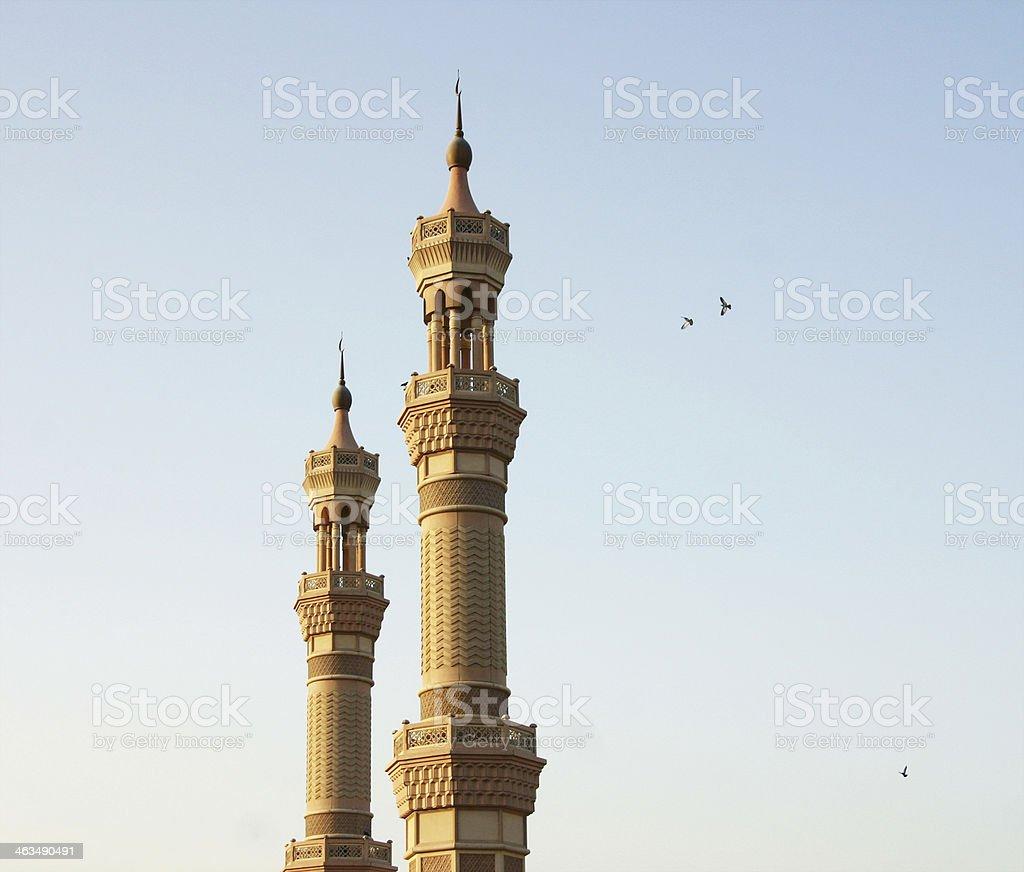 Twin Minarets royalty-free stock photo
