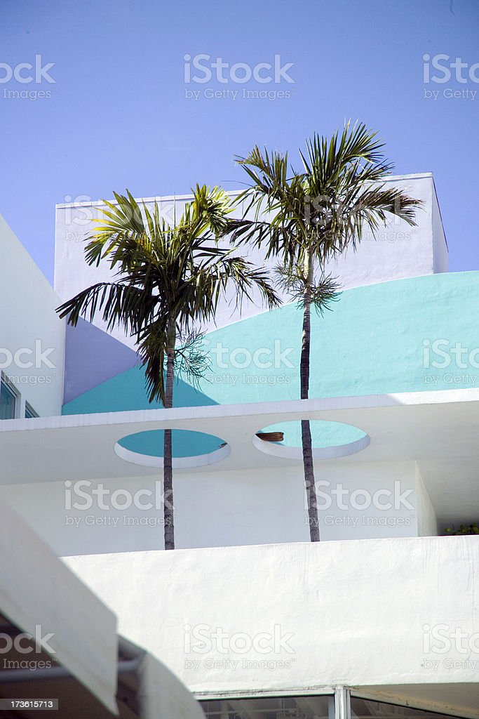 Twin Palms, South Beach royalty-free stock photo