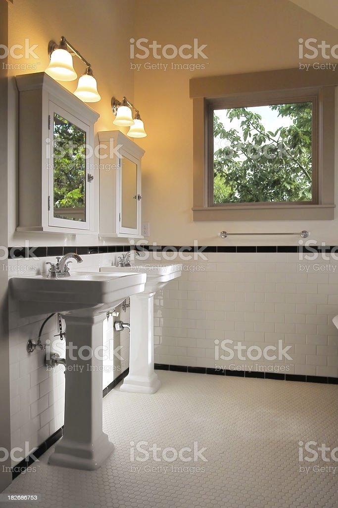 Twin Pedestal Sinks royalty-free stock photo
