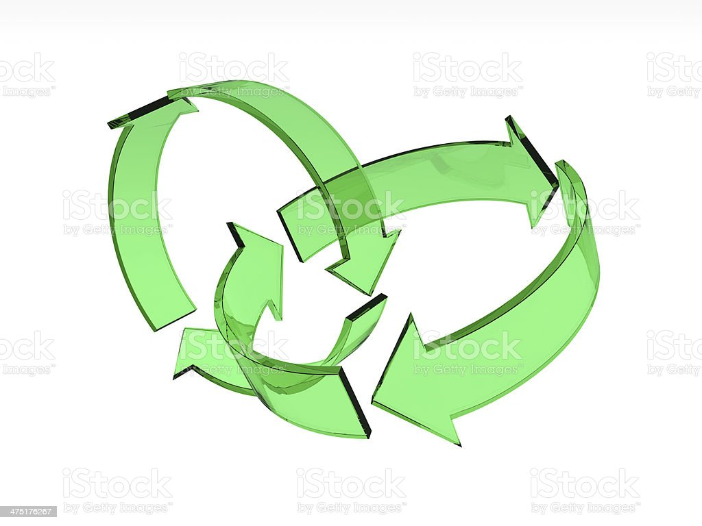 Twin Recycle Icon stock photo