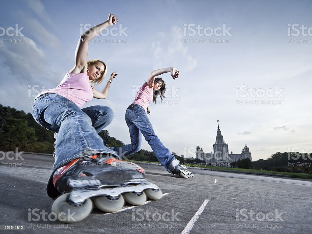 Twin slide stock photo
