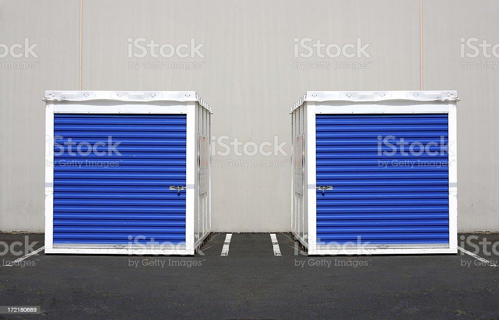Twin Storage Units stock photo