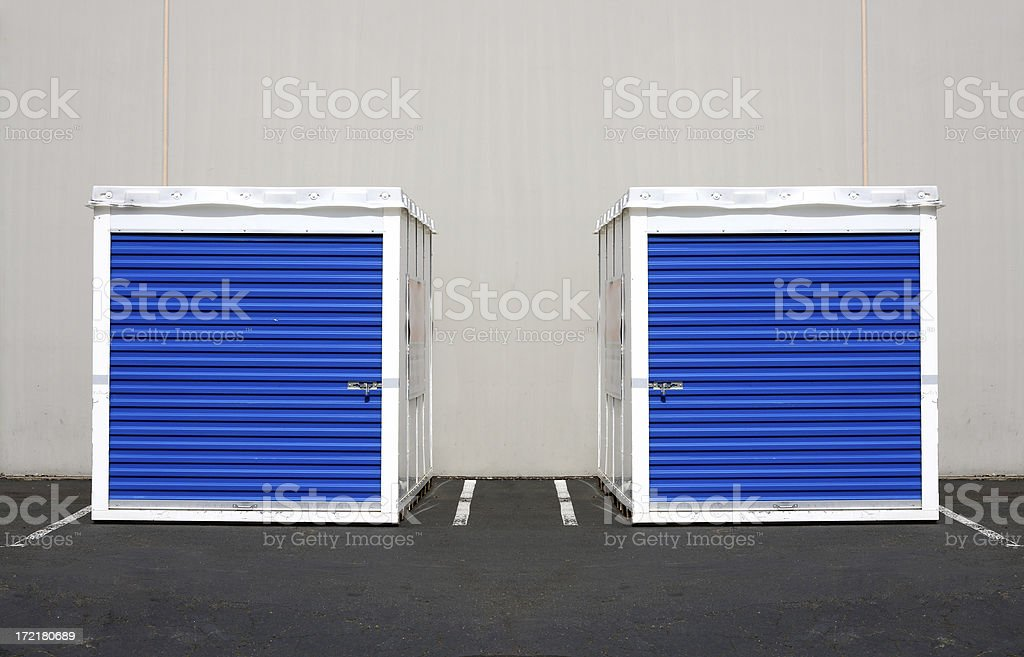 Twin Storage Units stock photo