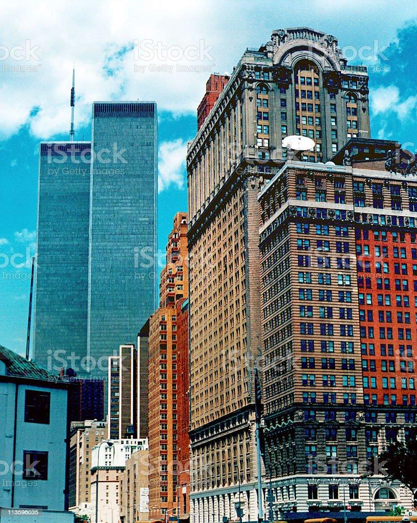 WTC twin tower stock photo
