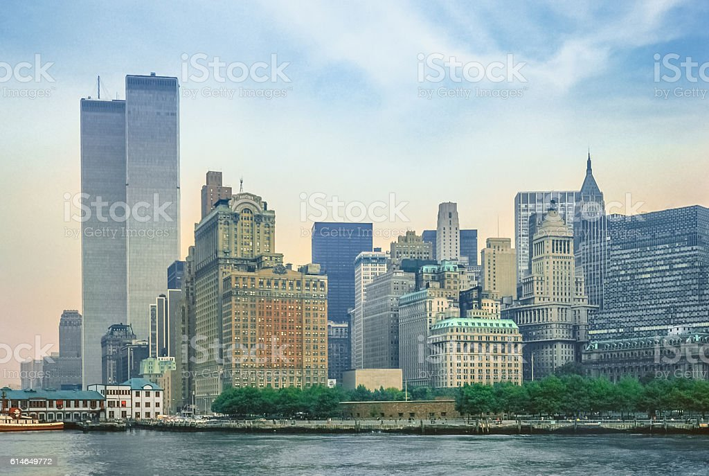 Twin Towers New York stock photo