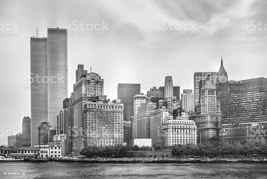 Twin Towers New York Skyline stock photo