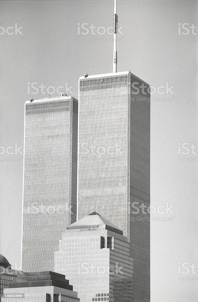 Twin towers NYC stock photo