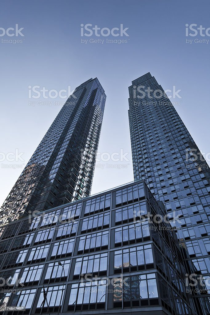 Twin Towers royalty-free stock photo