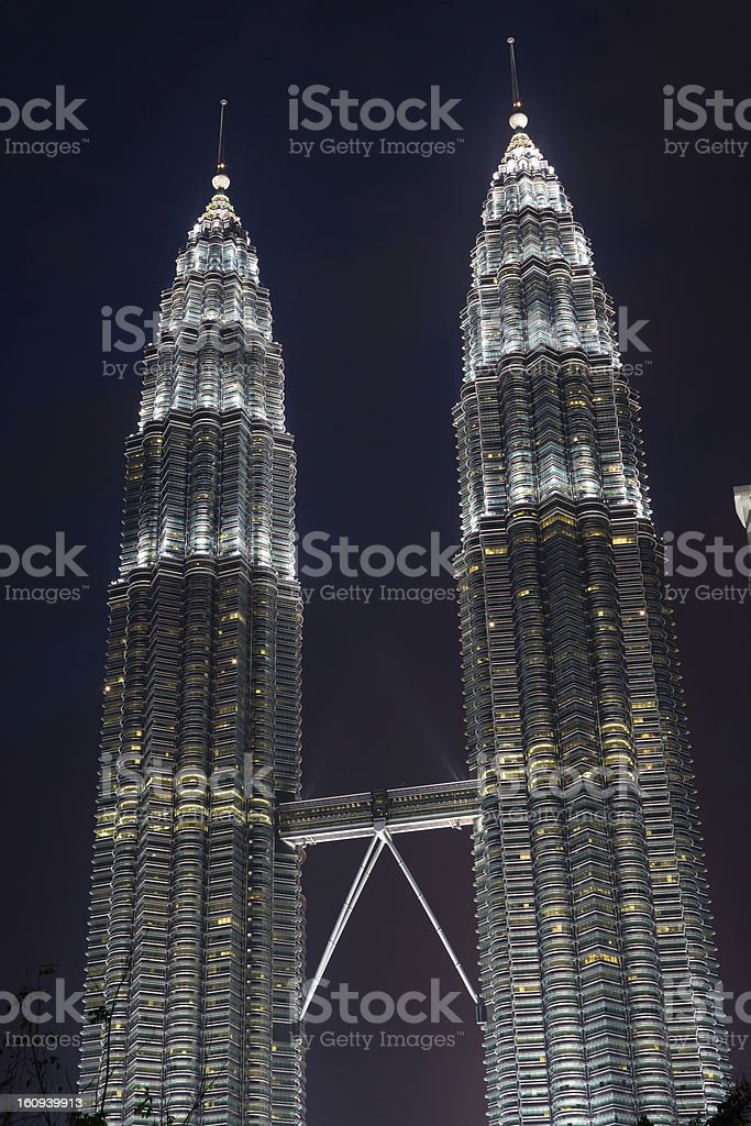 Twin Towers skyscrapers royalty-free stock photo