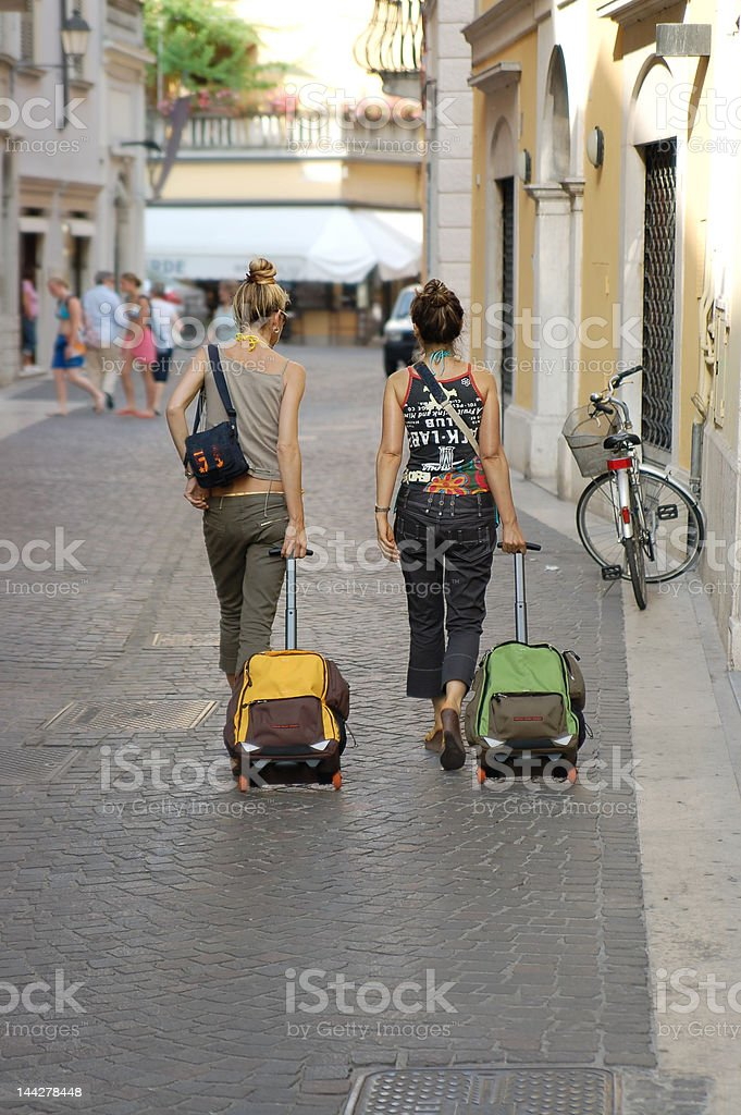 Twin Travellers royalty-free stock photo