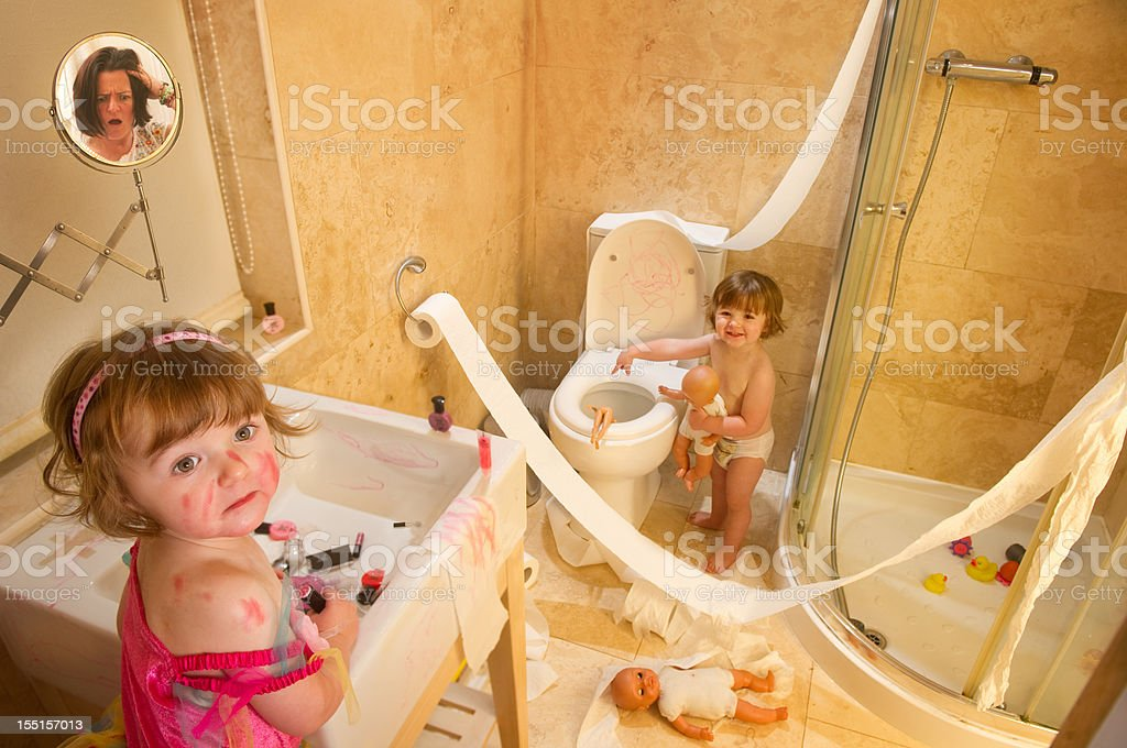 twin trouble royalty-free stock photo