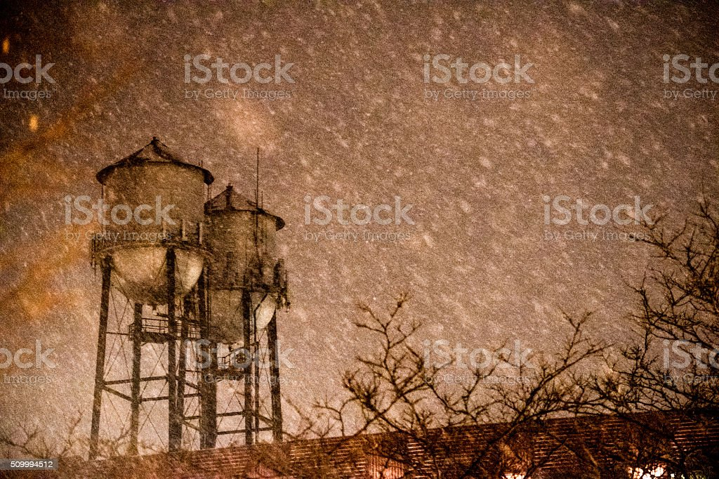 Twin Water towers royalty-free stock photo