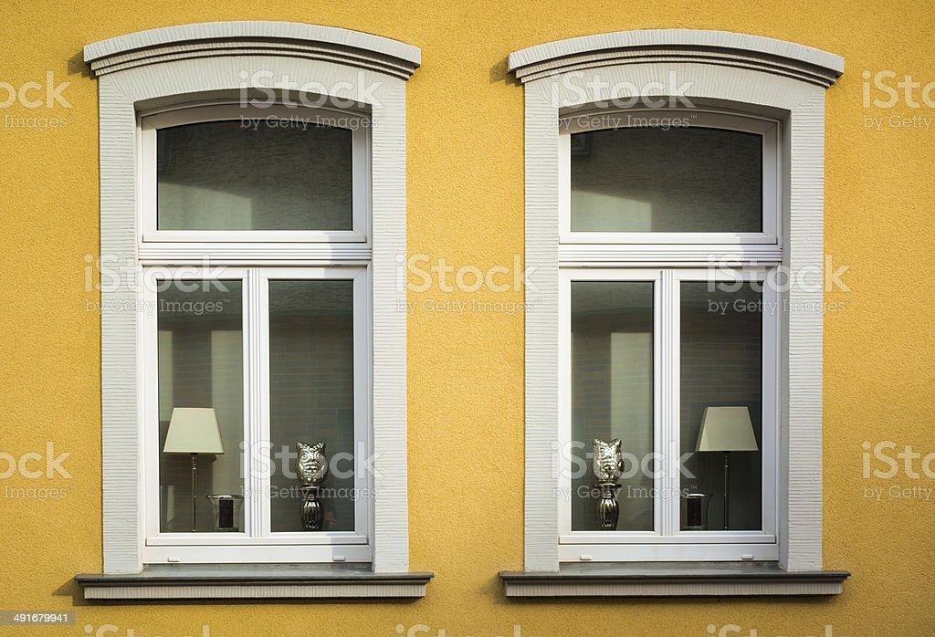 Twin windows stock photo