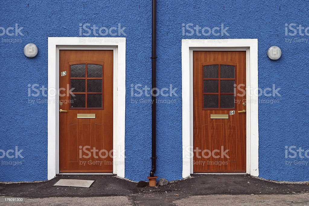 Twin-doors royalty-free stock photo