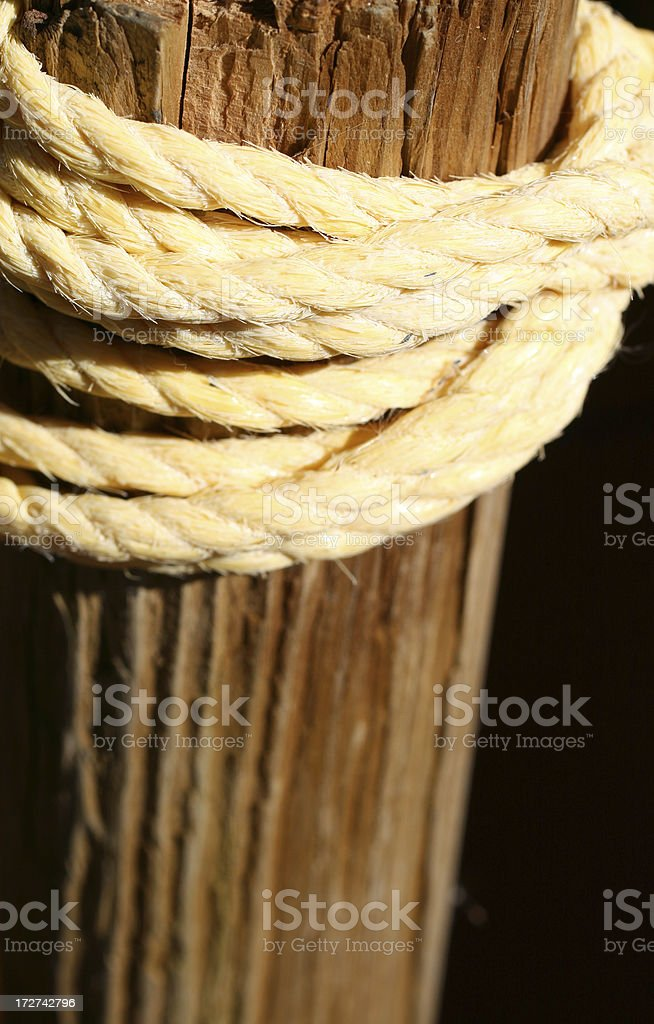 Twine Rope and Post stock photo