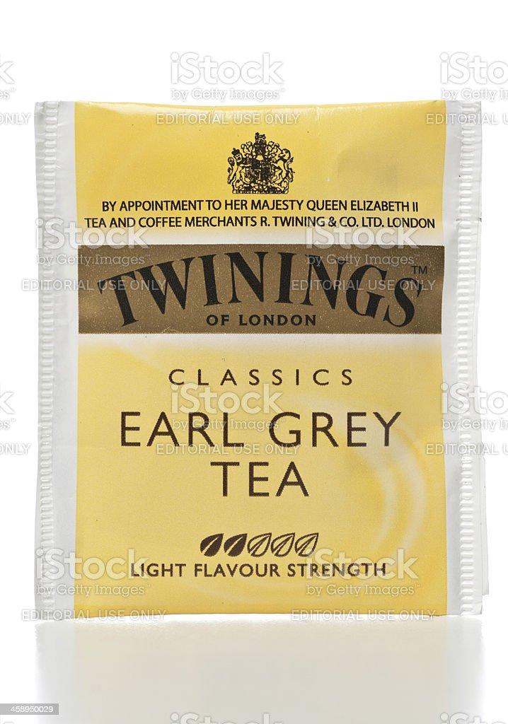 Twinings Classic Earl Grey Tea stock photo