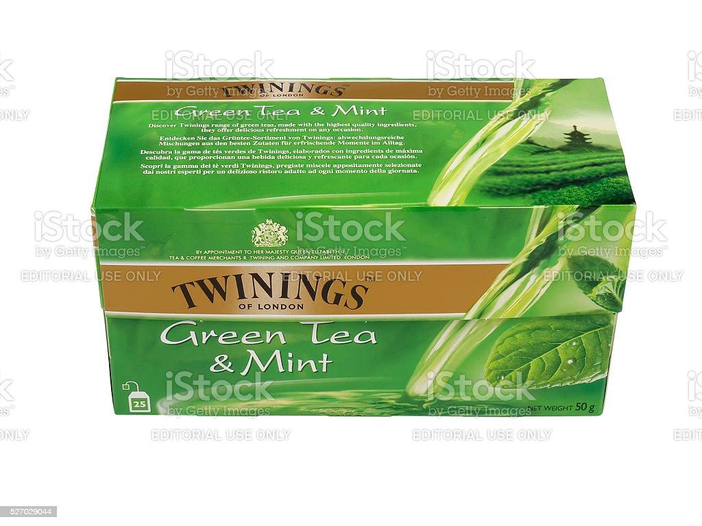 Twinings Green Tea stock photo
