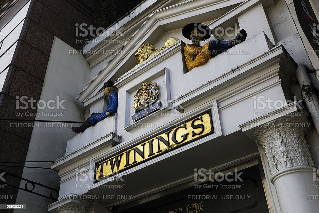 Twinings shop and museum stock photo
