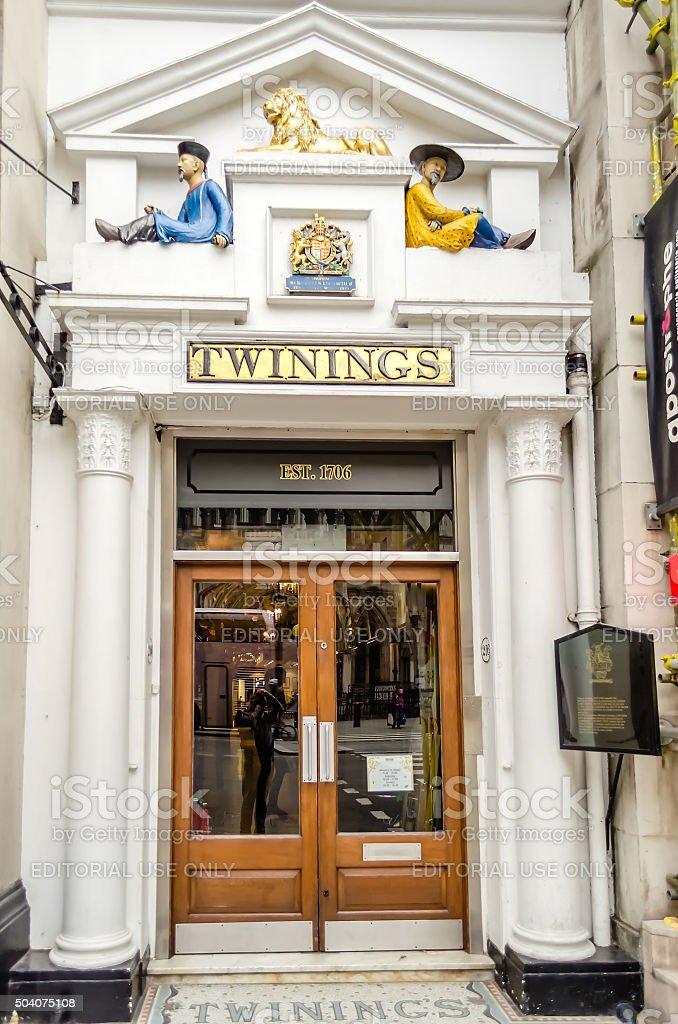 Twinings' Shop in London, UK stock photo