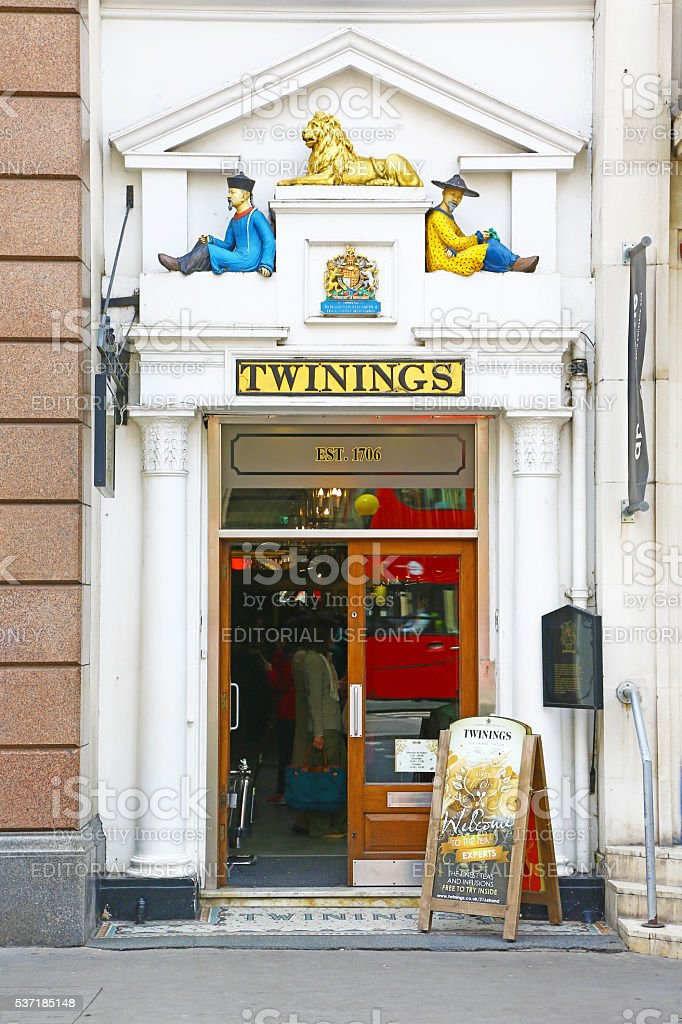 Twinings store in London stock photo