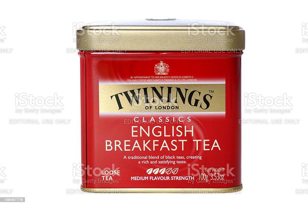 Twinings tea box stock photo
