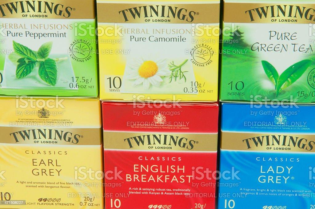 Twinings Teas stock photo