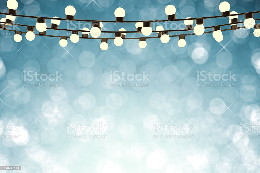 twinkle lights stock photo