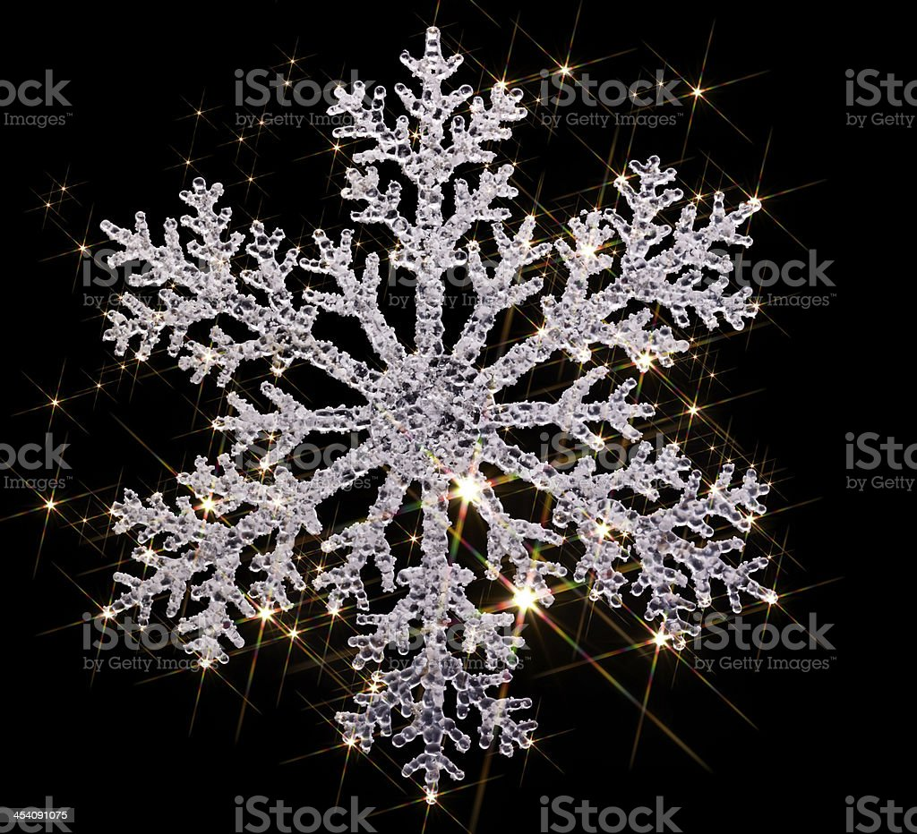 twinkling snowflake stock photo