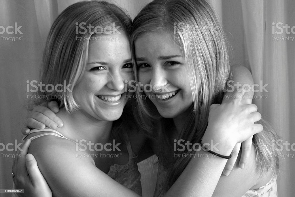 twins and friends royalty-free stock photo