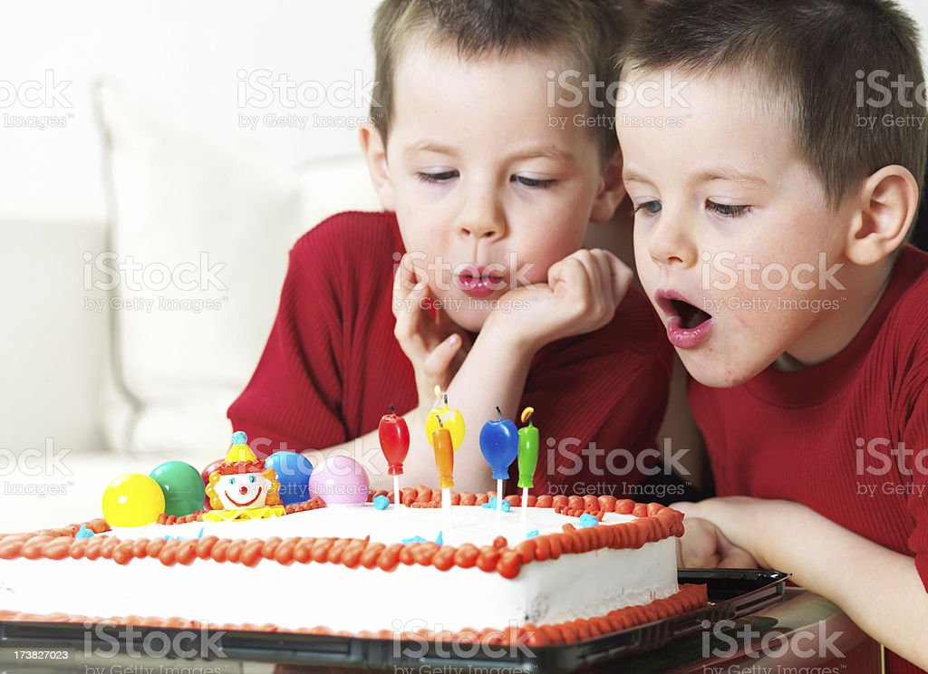 Twins birthday royalty-free stock photo