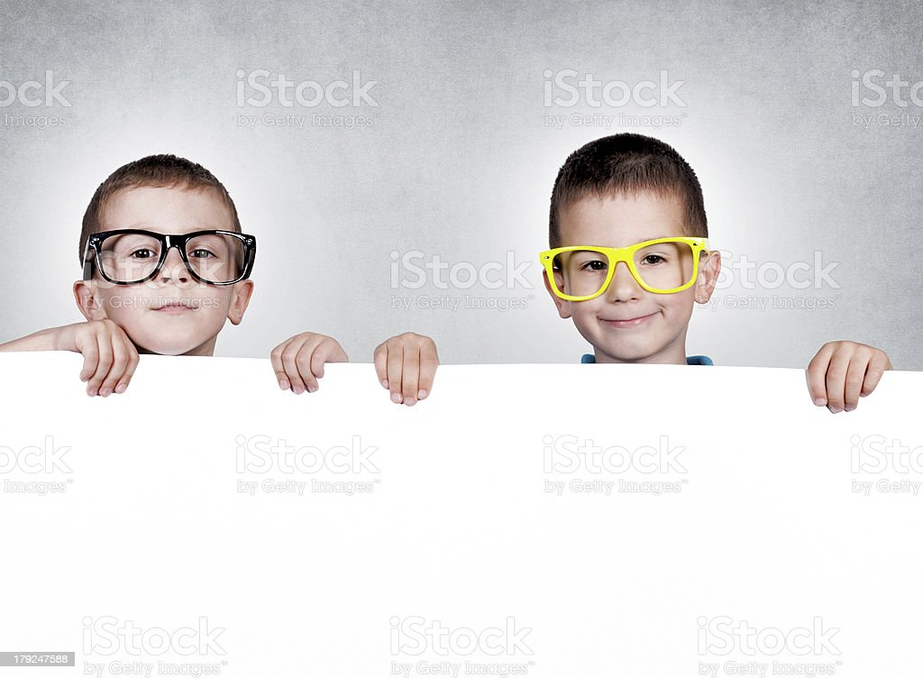 Twins brothers royalty-free stock photo
