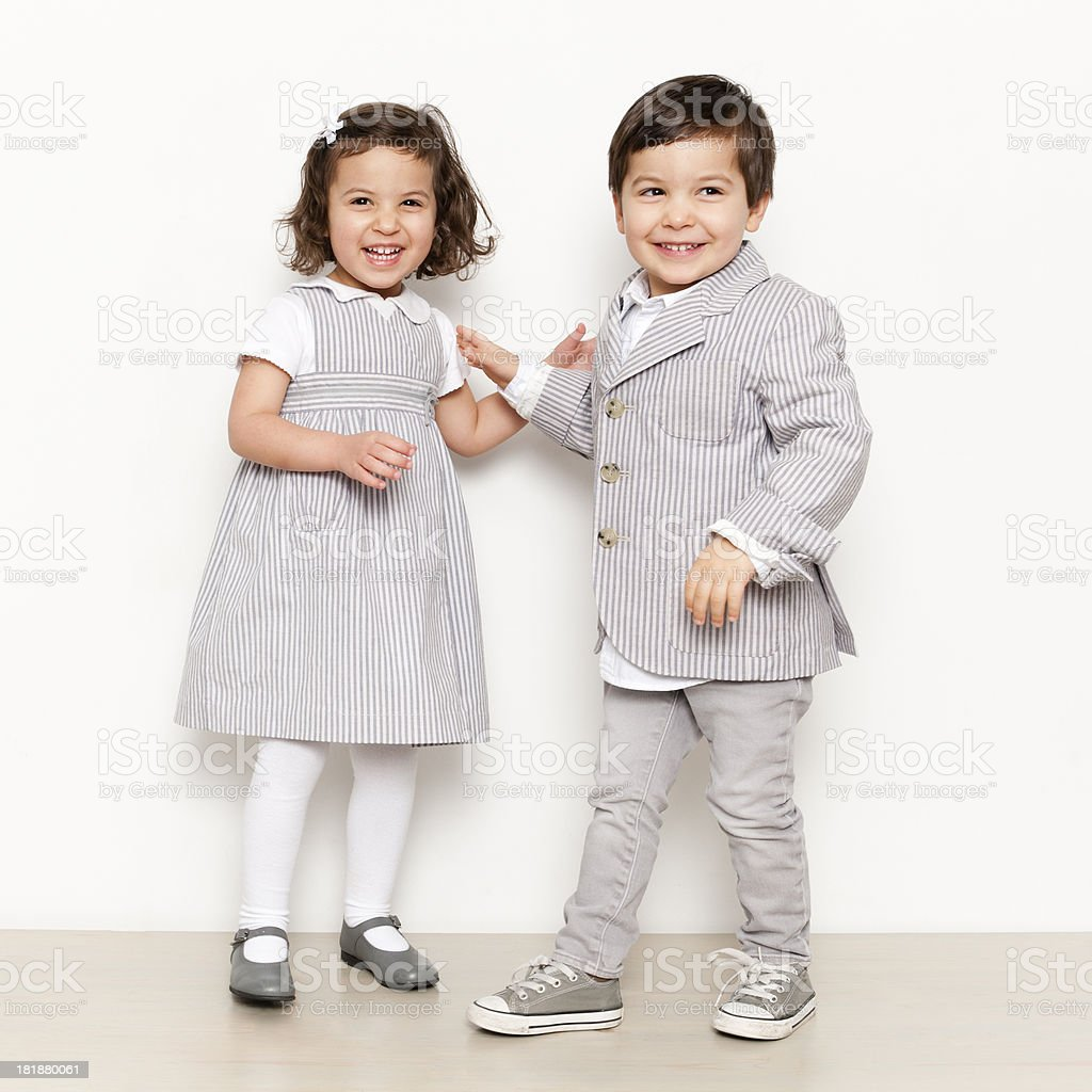 Twins royalty-free stock photo