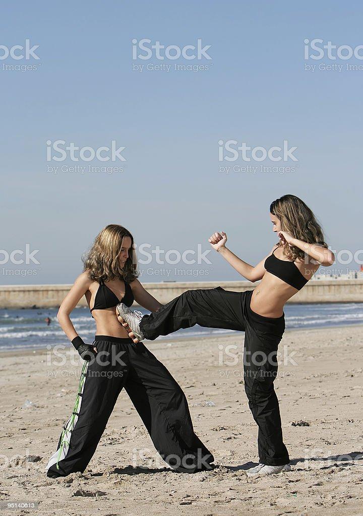twins training royalty-free stock photo