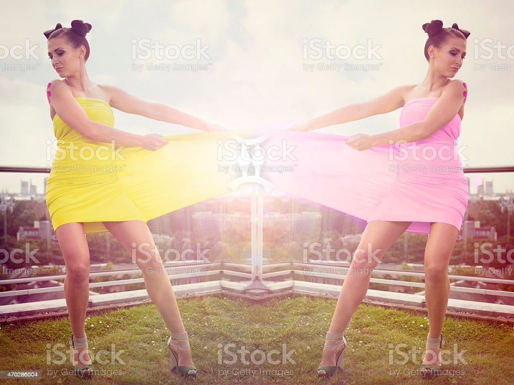 Twins, zodiac sign stock photo