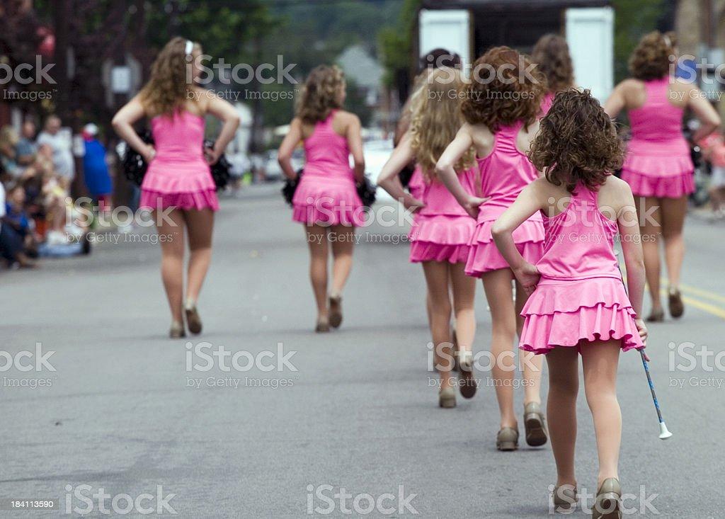 Twirlers on parade royalty-free stock photo