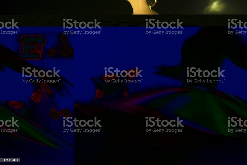 Twirling ballerina stock photo