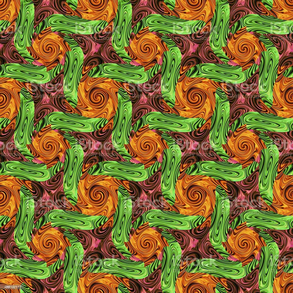 Twirls abstract seamless pattern stock photo