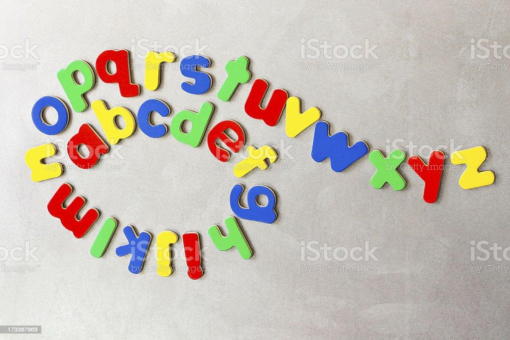 Twisted Alphabet royalty-free stock photo