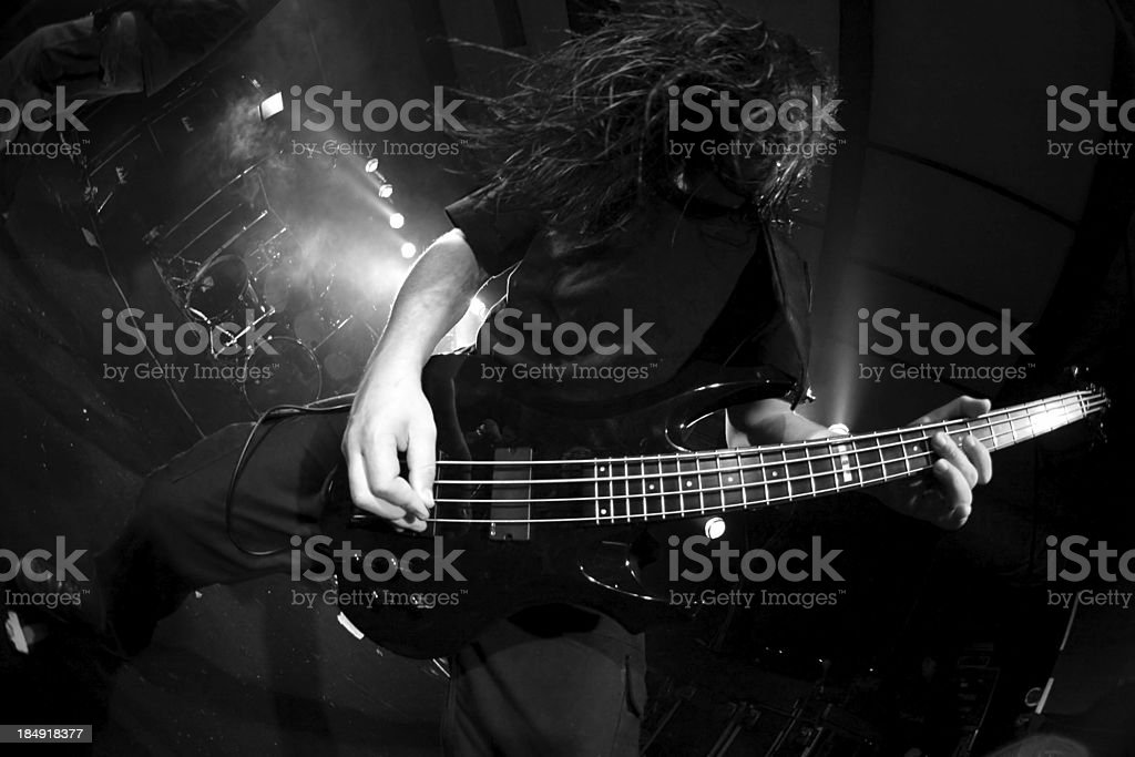 Twisted bass line stock photo