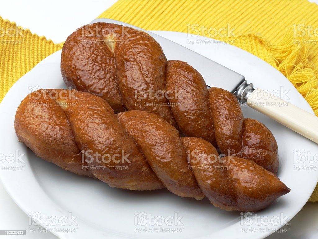 Twisted Bread royalty-free stock photo
