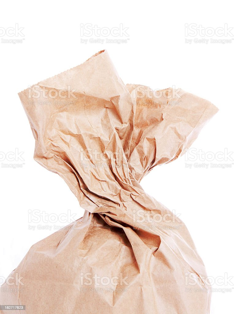 Twisted Brown Paper Bag royalty-free stock photo