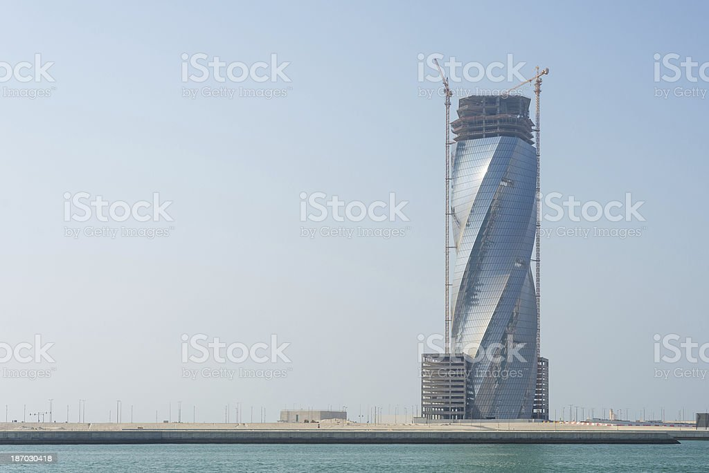 Twisted Building royalty-free stock photo