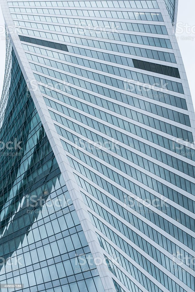 Twisted building stock photo