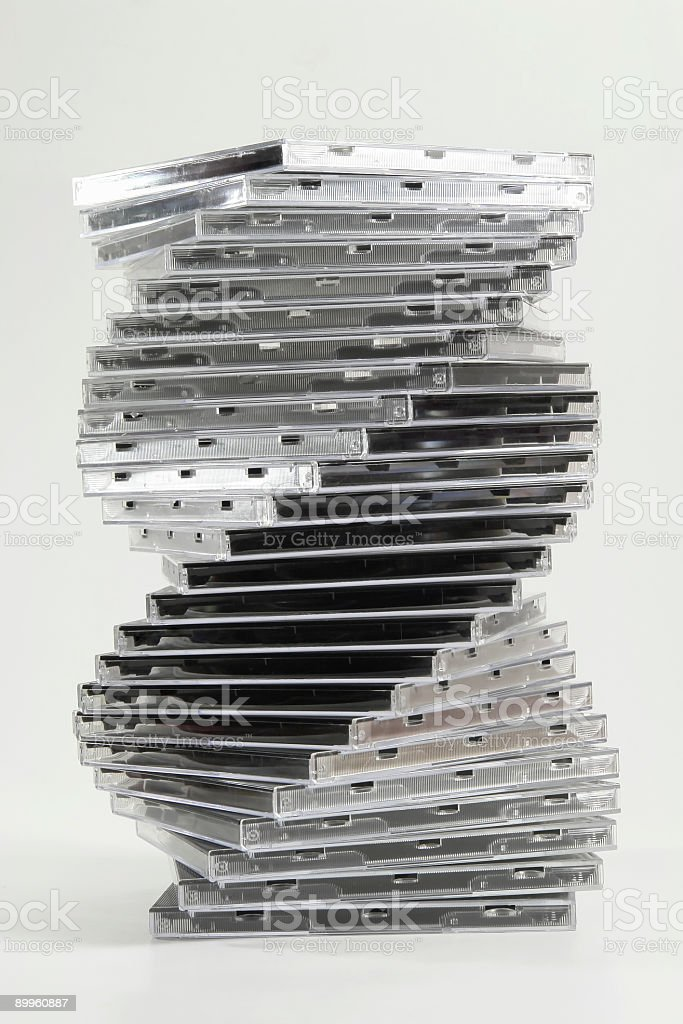 Twisted CD case royalty-free stock photo